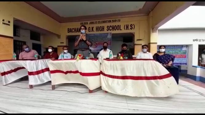 মালদায় উচ্চ মাধ্যমিক স্কুলকে রূপান্তরিত করা হলো কোভিড সেফ হোম - এ